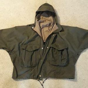 Filson waxed canvas fly fishing jacket